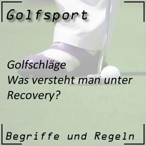 Golfschlag Recovery oder Rettungsschlag