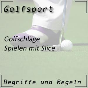 Golfschlag Slice