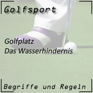 Golf Golfplatz Wasserhindernis