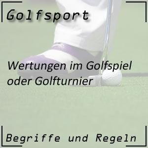 Wertungen im Golfturnier