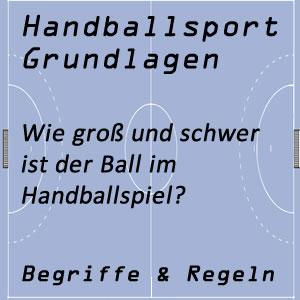 Handball Dimensionen / Umfang / Gewicht