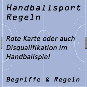 Handball Disqualifikation / Rote Karte