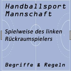 Handballmannschaft linker Rückraumspieler