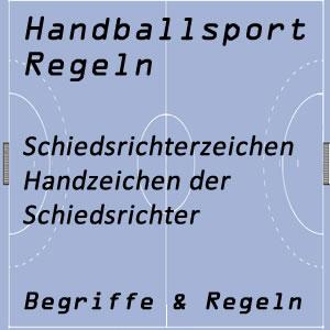 Handball Schiedsrichterzeichen Armzeichen