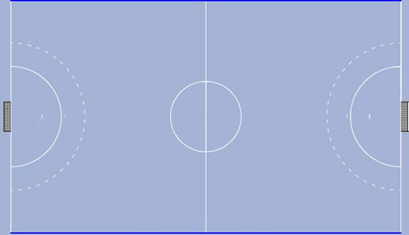 Seitenlinie am Handballfeld
