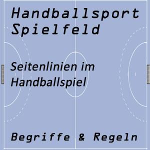 Handball Spielfeld Seitenlinie