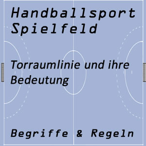 Handball Spielfeld Torraumlinie
