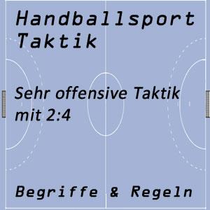 Handballtaktik 2:4