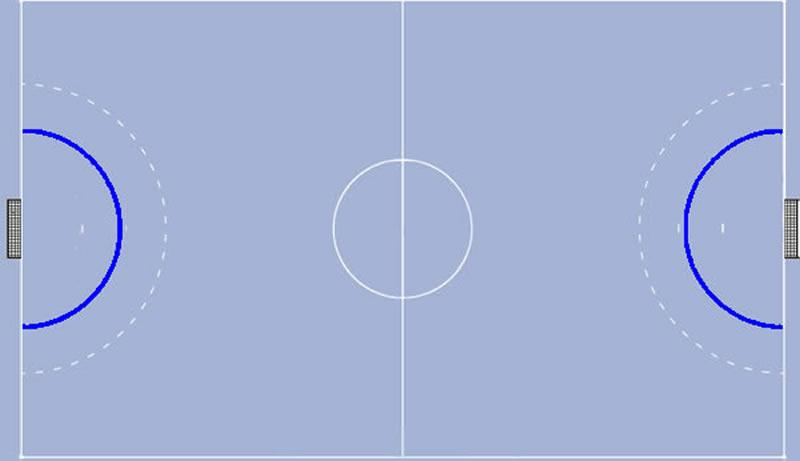 Torraumlinie im Handballspiel