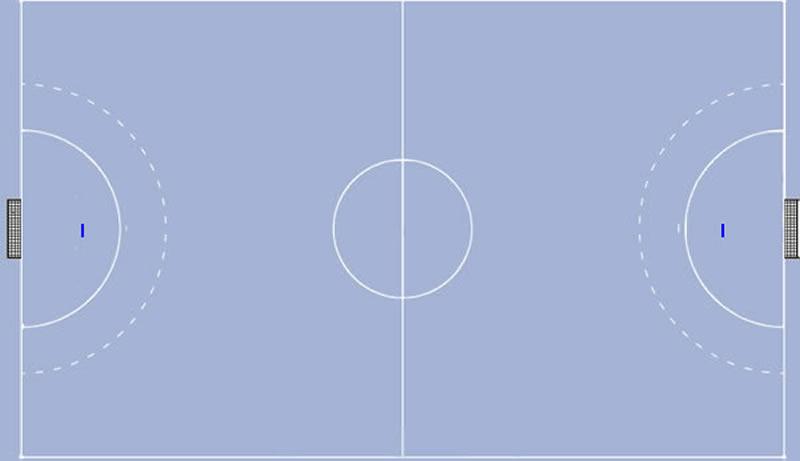 Torwartgrenzlinie im Handball