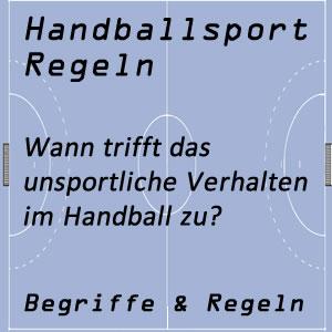 Handball unsportliches Verhalten