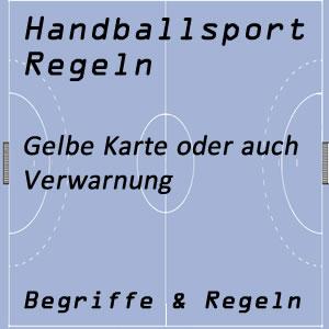 Handball Verwarnung / Gelbe Karte