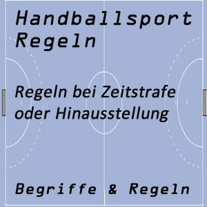 Handball Zeitstrafe / Hinausstellung