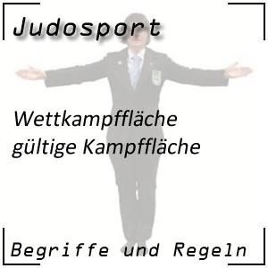 Judo gültige Kampffläche Sicherheitsfläche