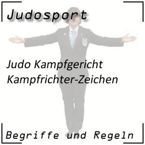 Judo Kampfrichter Zeichen Armzeichen