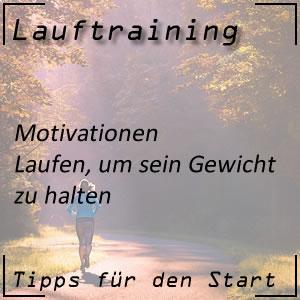 Lauftraining Motivationen Gewicht halten
