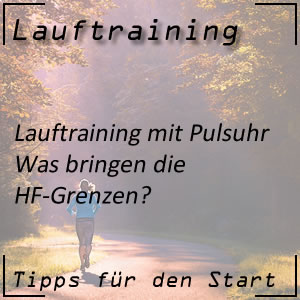 Lauftraining Pulsuhr HF-Grenzen
