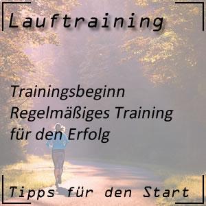 Lauftraining Trainingsbeginn regelmäßiges Training