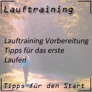 Lauftraining Vorbereitung erstes Laufen