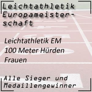 Leichtathletik EM 100 m Hürden Frauen