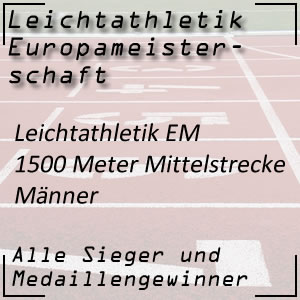 Leichtathletik EM 1500 m Männer