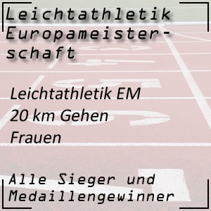 Leichtathletik EM 20 km Gehen Frauen