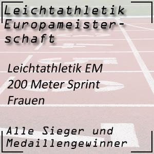 Leichtathletik EM 200 m Frauen