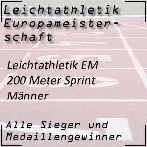 Leichtathletik EM 200 m Männer