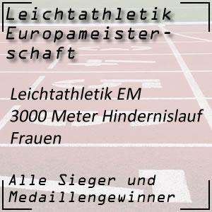 Leichtathletik EM 3000 m Hindernislauf Frauen