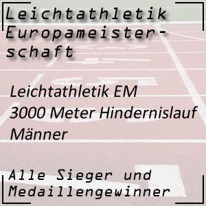 Leichtathletik EM 3000 m Hindernislauf Männer
