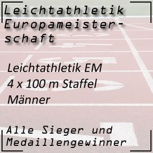 Leichtathletik EM 4x100 m Staffel Männer