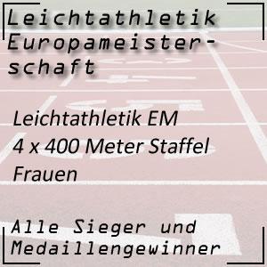 Leichtathletik EM 4 x 400 m Staffellauf Frauen