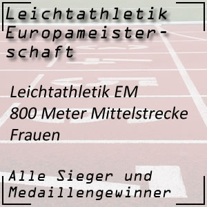 Leichtathletik EM 800 m Frauen