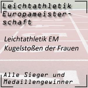 Leichtathletik EM Kugelstoßen Frauen