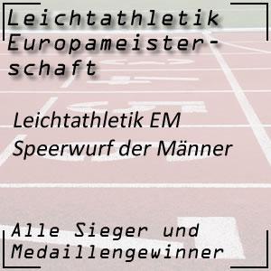 Leichtathletik EM Speerwurf Männer