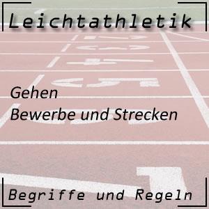 Leichtathletik Gehen-Wettbewerb