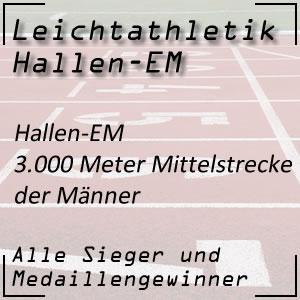 Leichtathletik Hallen EM 3.000 m Männer