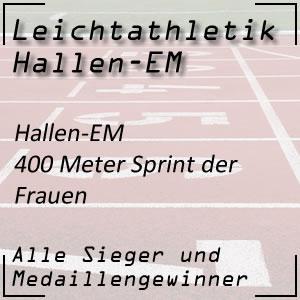 Leichtathletik Hallen-EM 400 m Frauen