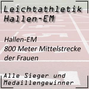 Leichtathletik Hallen-EM 800 m Frauen