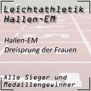 Leichtathletik Hallen EM Dreisprung Frauen