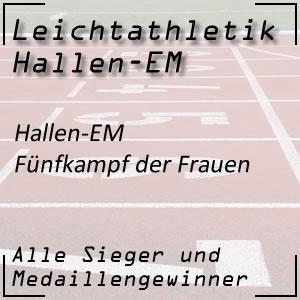 Leichtathletik Hallen EM Fünfkampf Frauen
