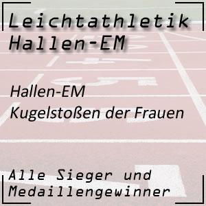 Leichtathletik Hallen EM Kugelstoßen Frauen
