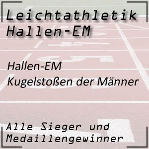 Leichtathletik Hallen EM Kugelstoßen Männer