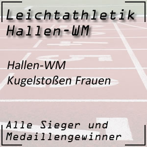 Leichtathletik Hallen WM Kugelstoßen Frauen
