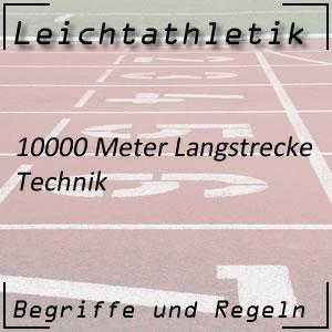 Leichtathletik Laufen 10000 m Technik