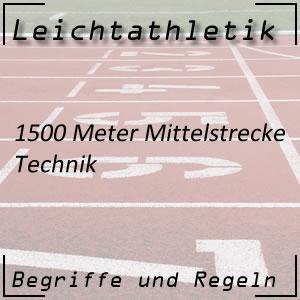 Leichtathletik Laufen 1500 m Technik