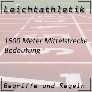 Leichtathletik 1.500 Meter