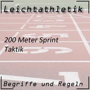 Leichtathletik Laufen 200 m Sprint Taktik