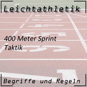 Laufen 400 m Sprint Taktik