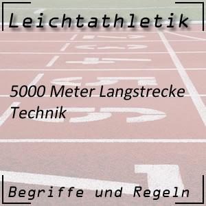 Leichtathletik 5000 Meter Technik